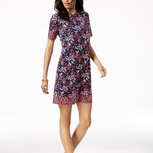 Michael Kors Floral Printed A-Line Dress